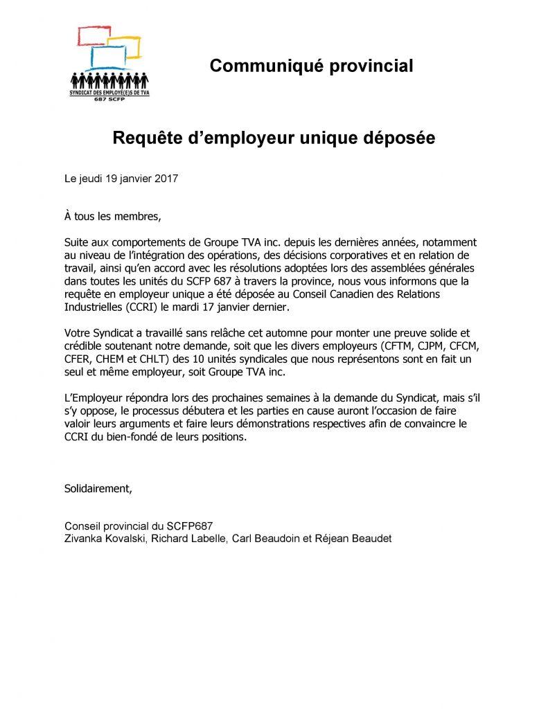 170119 Communique_requete employeur unique