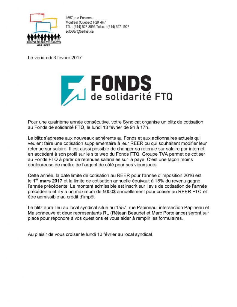 170203 Blitz Fonds solidarite FTQ