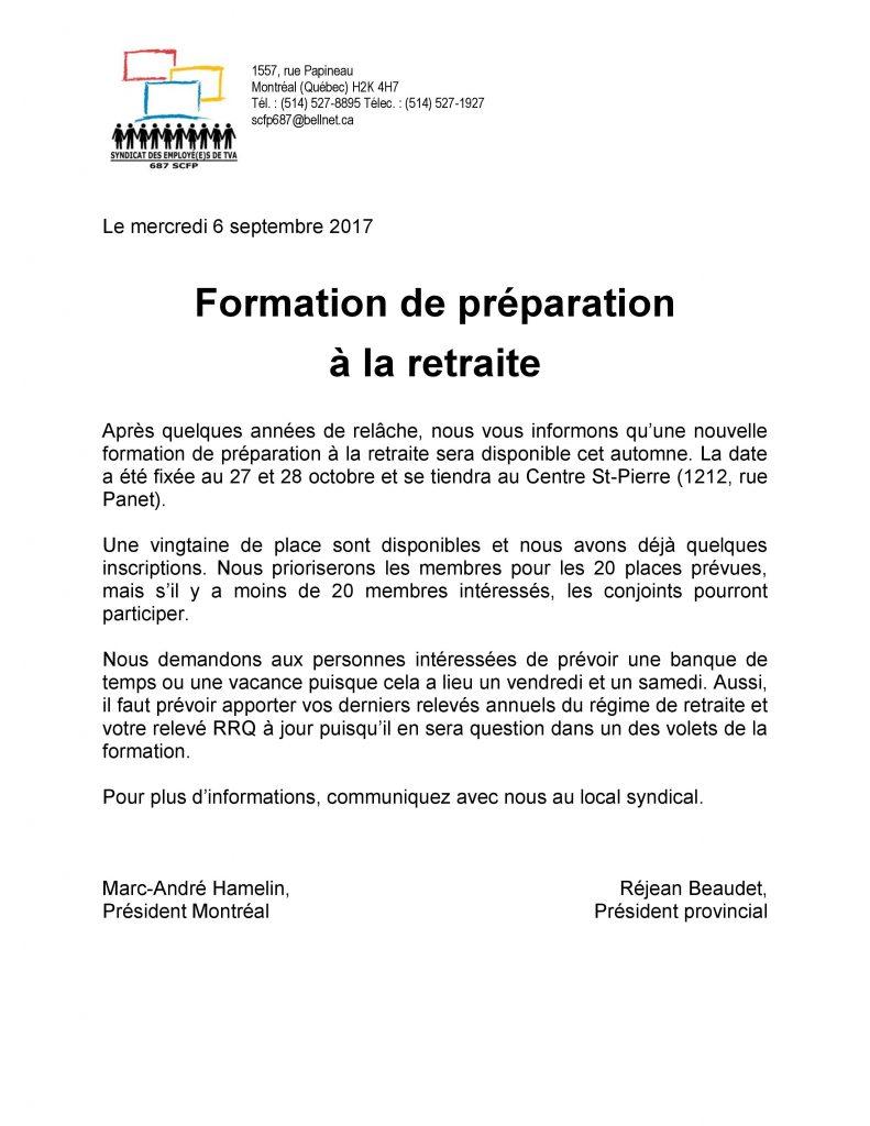 170906 Formation preparation retraite